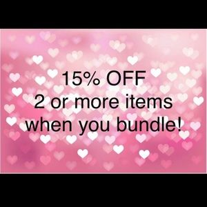 Tops - 15% of with two items bundled!! :)